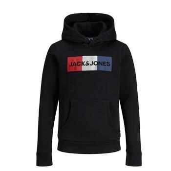 tekstylia Chłopiec Bluzy Jack & Jones JJECORP LOGO PLAY SWEAT Czarny