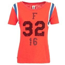 tekstylia Damskie T-shirty z krótkim rękawem Franklin & Marshall POINTO KORAL