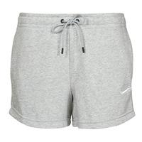 tekstylia Damskie Szorty i Bermudy Nike NSESSNTL FLC HR SHORT FT Szary / Biały