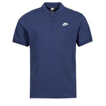 tekstylia Męskie Koszulki polo z krótkim rękawem Nike NSSPE POLO MATCHUP PQ Marine / Biały