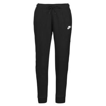 tekstylia Damskie Spodnie dresowe Nike NSMLNESSNTL FLC MR JGGR Czarny / Biały