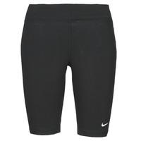 tekstylia Damskie Legginsy Nike NSESSNTL MR BIKER SHORT Czarny / Biały