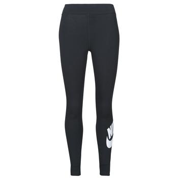 tekstylia Damskie Legginsy Nike NSESSNTL GX HR LGGNG FTRA Czarny / Biały