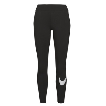 tekstylia Damskie Legginsy Nike NSESSNTL GX MR LGGNG SWSH Czarny / Biały