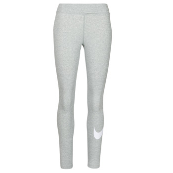 tekstylia Damskie Legginsy Nike NSESSNTL GX MR LGGNG SWSH Szary / Biały