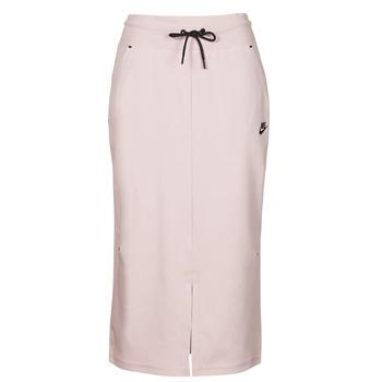 tekstylia Damskie Spódnice Nike NSTCH FLC SKIRT Beżowy / Czarny