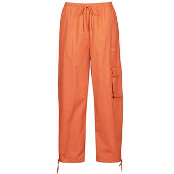 tekstylia Damskie Spodnie dresowe Nike NSICN CLASH PANT CANVAS HR Brązowy / Pomarańczowy