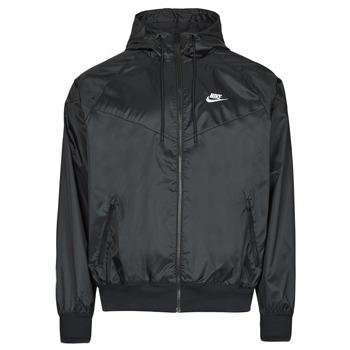 tekstylia Męskie Kurtki wiatrówki Nike NSSPE WVN LND WR HD JKT Czarny / Biały