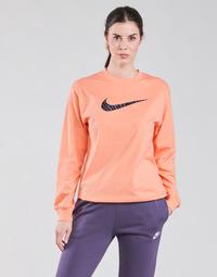 tekstylia Damskie T-shirty z długim rękawem Nike NSICN CLSH LS TOP HBR Różowy / Fioletowy
