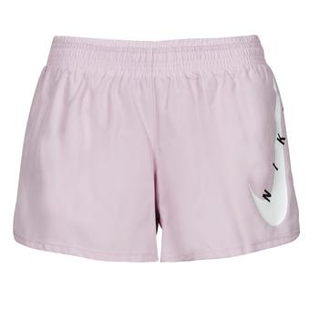 tekstylia Damskie Szorty i Bermudy Nike SWOOSH RUN SHORT Fioletowy / Biały