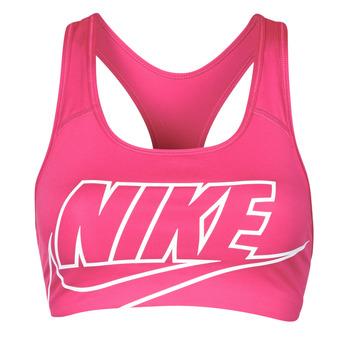 tekstylia Damskie Biustonosze Nike DF SWSH FUTURA GX BRA Różowy / Biały