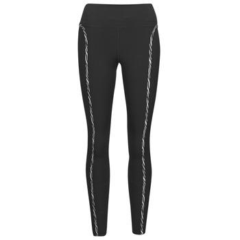 tekstylia Damskie Legginsy Nike NIKE ONE LUXE ICNCLSH TGT Czarny / Fioletowy