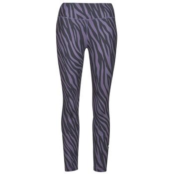 tekstylia Damskie Legginsy Nike NIKE ONE 7/8 AOP TGT ICNCLSH Fioletowy / Czarny