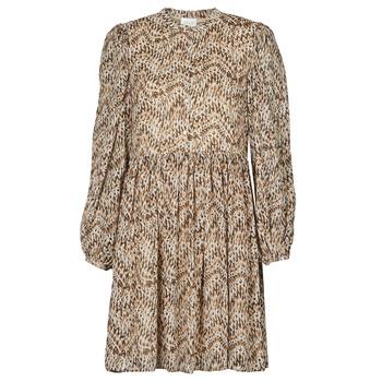 tekstylia Damskie Sukienki krótkie Vila VISUNARA Beżowy