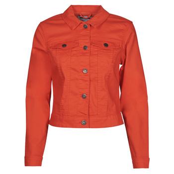 tekstylia Damskie Kurtki jeansowe Noisy May NMDEBRA Czerwony