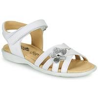 Buty Dziewczynka Sandały Citrouille et Compagnie HERTUNE Biały