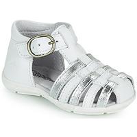 Buty Dziewczynka Sandały Citrouille et Compagnie RINE Biały / Argenté