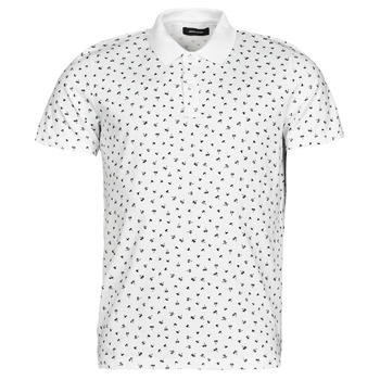 tekstylia Męskie Koszulki polo z krótkim rękawem Jack & Jones JJMINIMAL Biały
