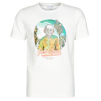 tekstylia Męskie T-shirty z krótkim rękawem Jack & Jones JORDAAYS Biały
