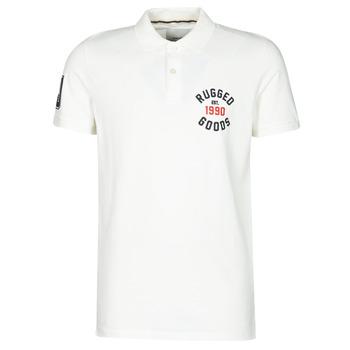 tekstylia Męskie Koszulki polo z krótkim rękawem Jack & Jones JJAPPLICA Biały