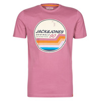 tekstylia Męskie T-shirty z krótkim rękawem Jack & Jones JORTYLER Różowy