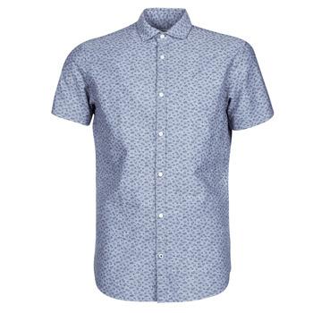 tekstylia Męskie Koszule z krótkim rękawem Jack & Jones JPRBLASUMMER Niebieski