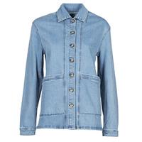 tekstylia Damskie Kurtki jeansowe Betty London OVEST Niebieski / Medium