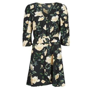 tekstylia Damskie Sukienki krótkie Only ONLEVE 3/4 SLEEVE SHORT DRESS WVN Czarny