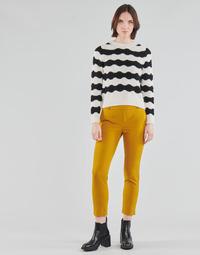 tekstylia Damskie Chinos Only ONLGLOWING Żółty