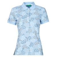 tekstylia Damskie Koszulki polo z krótkim rękawem Benetton CHOLU Niebieski