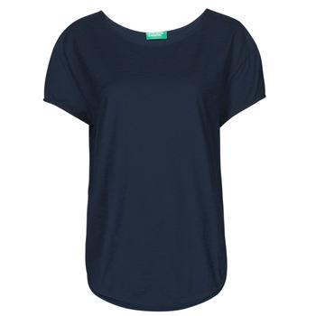 tekstylia Damskie T-shirty z krótkim rękawem Benetton 3BVXE19E6-016 Niebieski