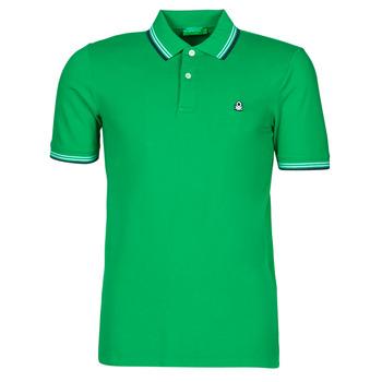 tekstylia Męskie Koszulki polo z krótkim rękawem Benetton 3WG9J3181-108 Zielony