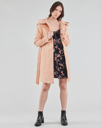 tekstylia Damskie Płaszcze Vero Moda VMCALALYON HOOD 3/4 JACKET GA Różowy