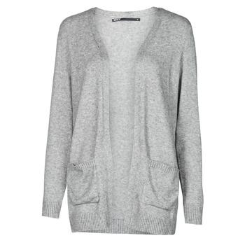 tekstylia Damskie Swetry rozpinane / Kardigany Only ONLLESLY Szary