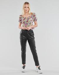 tekstylia Damskie Spodnie z pięcioma kieszeniami Yurban OPATI Czarny