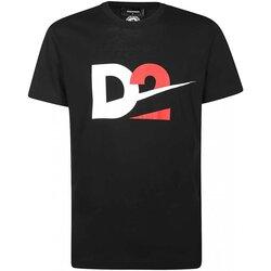 tekstylia Męskie T-shirty z krótkim rękawem Dsquared S74GD0728 Czarny