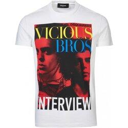 tekstylia Męskie T-shirty z krótkim rękawem Dsquared S74GD0475 Biały
