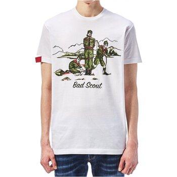 tekstylia Męskie T-shirty z krótkim rękawem Dsquared S74GD0361 Biały
