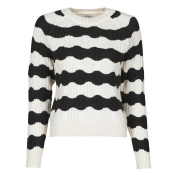 tekstylia Damskie Swetry Only ONLKAITLIN Czarny / Biały