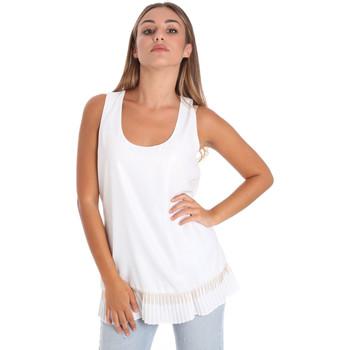 tekstylia Damskie Topy / Bluzki Fracomina FR20SM014 Biały