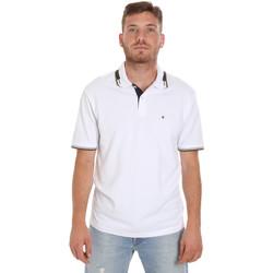 tekstylia Męskie Koszulki polo z krótkim rękawem Les Copains 9U9021 Biały
