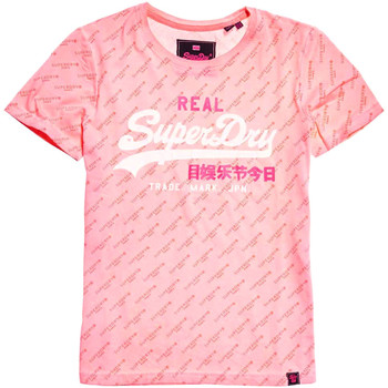 tekstylia Damskie T-shirty z krótkim rękawem Superdry G10157YT Różowy