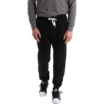 tekstylia Męskie Spodnie dresowe Key Up 2F37I 0001 Czarny