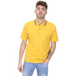 tekstylia Męskie Koszulki polo z krótkim rękawem Les Copains 9U9022 Żółty