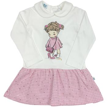 tekstylia Dziewczynka Sukienki krótkie Melby 20A0011 Biały