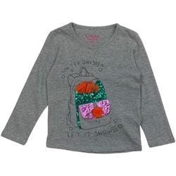 tekstylia Dziewczynka T-shirty z długim rękawem Losan 026-1201AL Szary