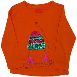 tekstylia Dziecko T-shirty z długim rękawem Losan 026-1201AL Pomarańczowy