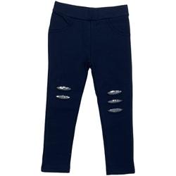 tekstylia Dziewczynka Legginsy Losan 026-6008AL Niebieski
