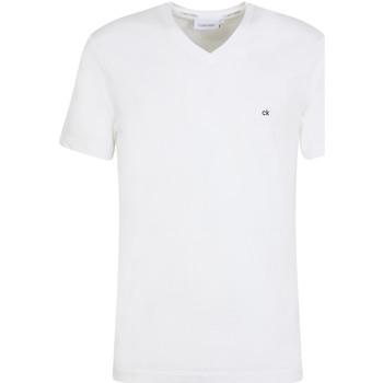 tekstylia Męskie T-shirty z krótkim rękawem Calvin Klein Jeans K10K103672 Biały