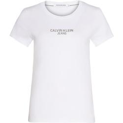 tekstylia Damskie T-shirty z krótkim rękawem Calvin Klein Jeans J20J214232 Biały